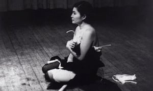 Yoko Ono performs Cut Piece in 1965 at Carnegie Hall, New York