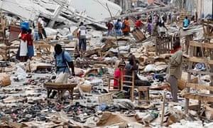 Port-au-Prince in Haiti after the 2012 earthquake
