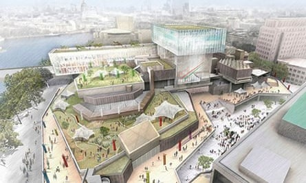 An artist's impression of the proposed development on the South Bank