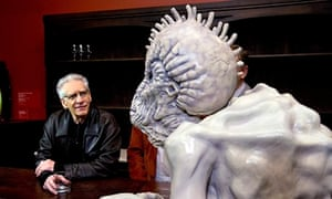 David Cronenberg with naked lunch character