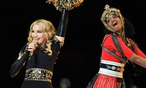 Madonna and MIA at the 2012 Super Bowl