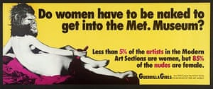 Untitled, by Guerrilla Girls, 1985-1990