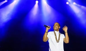 Jay Z performs at the Yahoo! Wireless festival