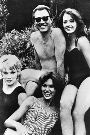 Stephen Ward with Christine Keeler (right) and Penny Marshall (front)