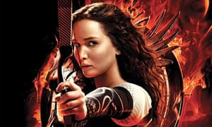 On fire … Suzanne Collins's Hunger Games trilogy currently dominates Kindle's 'most highlighted' cha