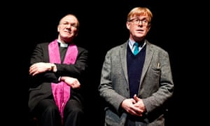 Self centred … Derek Hutchinson (Vicar) and Alex Jennings (Alan Bennett) in Cocktail Sticks.