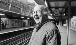 Poet Laureate John Betjeman in 1974 at Sloane Square underground station, London