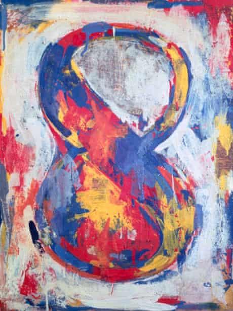 Jasper Johns's Figure 8 (1959).