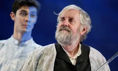 Richard Briers and Ben Silverstone in The Tempest