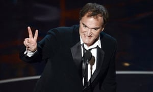 Quentin Tarantino accepts the best writing - original screenplay Oscar for Django Unchained