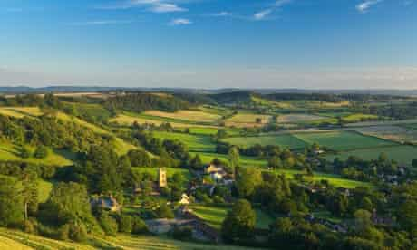 The rolling countryside of Dorset
