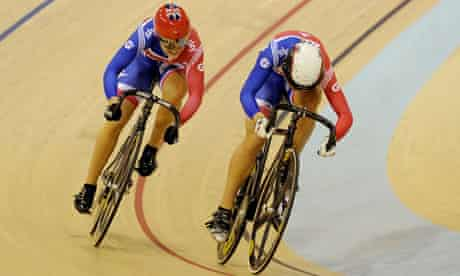 Jess Varnish and Becky James at UCI Track Cycling World Cup