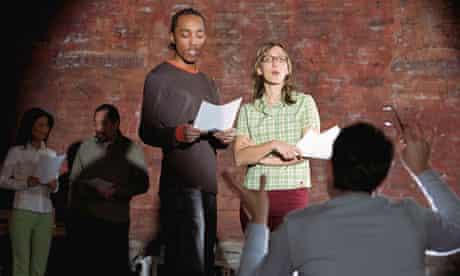 Actors auditioning