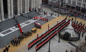 Funeral of Baroness Thatcher at St Paul's Cathedral, London
