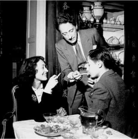 Nusch Eluard, Jean Cocteau and unknown man, Paris, France, 1944