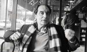 Writer Italo Calvino in a Cafe