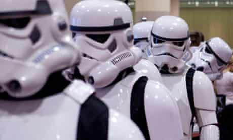 Fans dressed as Storm Troopers.