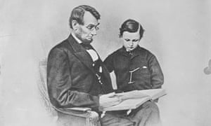 Abraham Lincoln and his son Tad in a photograph by Mathew Brady