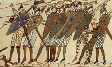 Foot soldiers depicted on the Bayeux tapestry
