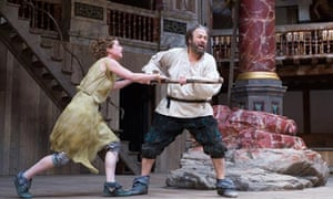 Roger Allam in The Tempest at Shakespeare's Globe, London.