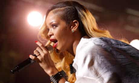 Rihanna performs in Rabat in May 2013