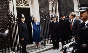 Conservative MP and new prime minister Margaret Thatcher arriving at No 10 in 1979