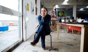 Ellen Gallagher in her studio in Rotterdam.