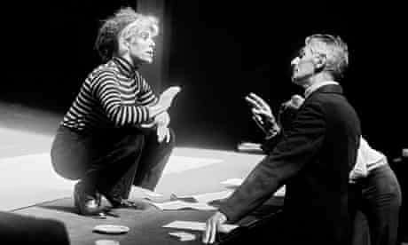 Samuel Beckett with Billie Whitelaw in Not I, at the Royal Court in 1979