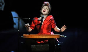 Cyndi Lauper, winner of the best original score for Kinky Boots, performs at the Tony awards 2013