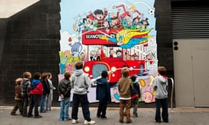 Poster for Beanotown at the Festival of Neighbourhood at London's Southbank Centre