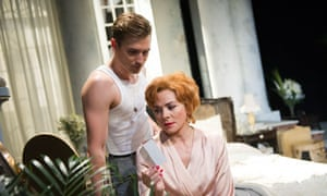 Kim Cattrall and Seth Numrich in Sweet Bird of Youth by Tennessee Williams at the Old Vic, London