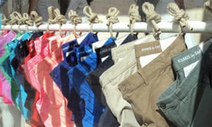 Gap clothes in various colours on display