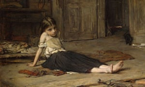 Too much too young … Frank Holl's Faces in the Fire (1867).