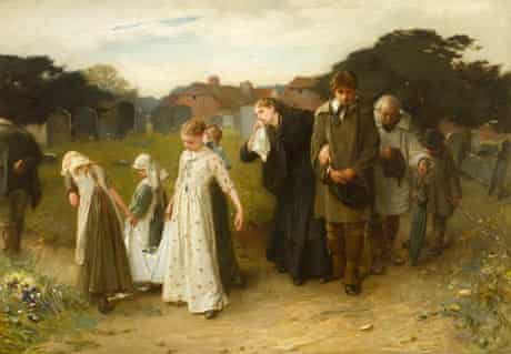 Frank Holl's Her Firstborn, Horsham Churchyard (1876).