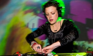 Annie Mac performs a DJ set on stage at Koko in London
