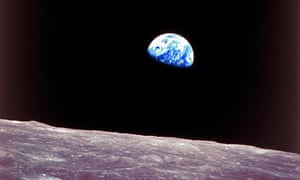 Apollo 8 view of earthrise over the moon