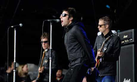 Liam Gallagher performs with Beady Eyes on the Other stage at Glastonbury 2013