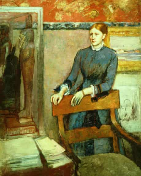 Degas: Helene Rouart in Her Father's Study, 1886