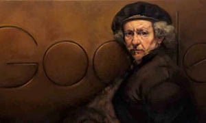Google doodle celebrating Rembrandt's 407th birthday