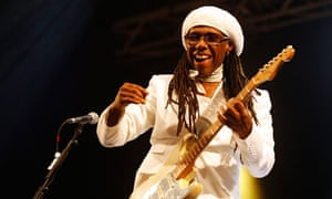 Nile Rodgers performs with his band Chic at Glastonbury