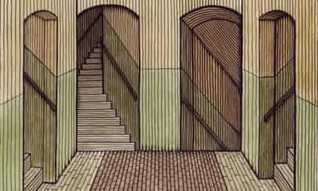 Clifford Harper's illustration of Wreaking for James Scudamore's novel