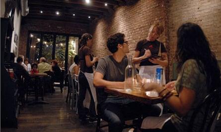 A trendy a Brooklyn restaurant.