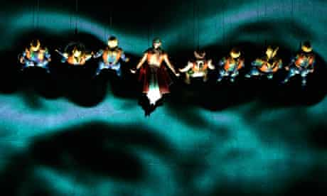 The final scene from Cirque du Soleil's Ka, performed in Las Vegas
