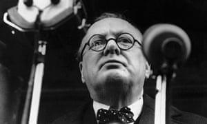 Winston Churchill Delivers Speech