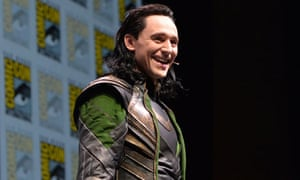 Actor Tom Hiddleston at Marvel's Thor: The Dark World presentation at Comic-Con 2013
