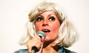 Naked truth … Adrienne Truscott at Bob's Bookshop, Edinburgh.