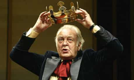 """Donald Sinden in """"The Hollow Crown"""" at the Royal Shakespeare theatre, Stratford"""
