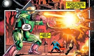 Action Comics: Superman, written by Grant Morrison (detail).