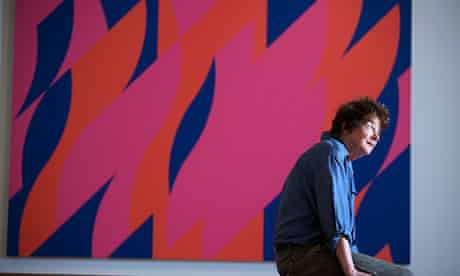 Bridget Riley at the press preview of her Flashback exhibition at the Walker Art Gallery in Liverpoo