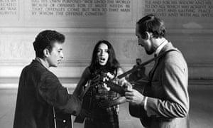 Bob Dylan, Joan Baez and Paul Stookey